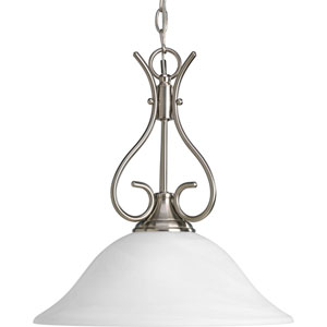 Brushed Nickel 56-Inch One-Light Pendant with Alabaster Glass