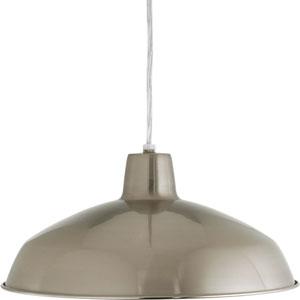 Metal Shade Brushed Nickel One-Light Pendant