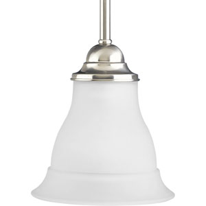 P5096-09:  Trinity Brushed Nickel Etched Mini Pendant