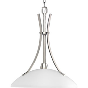 Wisten Brushed Nickel One-Light Pendant with Etched Glass
