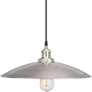 P5124-81 Archives Antique Nickel 16-Inch One-Light Pendant