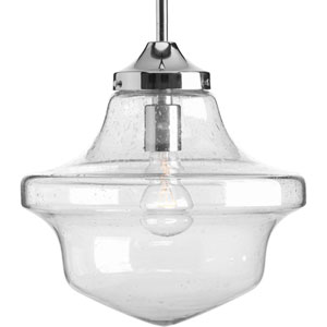 P5138-15 Academy Polished Chrome 12-Inch One-Light Pendant