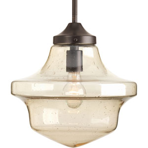 P5138-20 Academy Antique Bronze 12-Inch One-Light Pendant