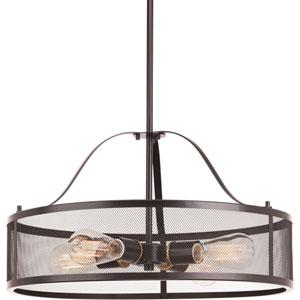 P5150-20 Swing Antique Bronze Four-Light Drum Pendant