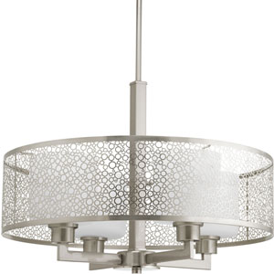 P5156-09 Mingle Brushed Nickel 21-Inch Four-Light Drum Pendant