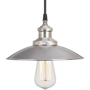 P5161-81 Archives Antique Nickel 9-Inch One-Light Mini Pendant