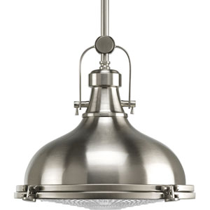 P5188-09:  Fresnel Lens Brushed Nickel One-Light Pendant