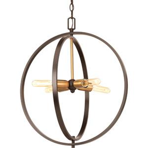 P5190-20 Swing Antique Bronze 20-Inch Four-Light Pendant