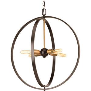 P5191-20 Swing Antique Bronze 25-Inch Four-Light Pendant