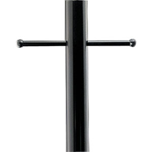 P5391-31:  Black Aluminum Post With Ladder Rest