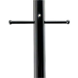 P5391-31PC:  Black Aluminum Post With Ladder Rest and Photoelectric Cell