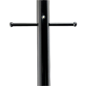P5392-31PC:  Black Aluminum Post With Ladder Rest, Weatherproof GCO And Photocell