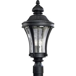 P5438-71:  Nottington Gilded Iron Three-Light Outdoor Post Mounted Lantern