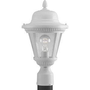 P5445-30:  Westport White One-Light Outdoor Post Mounted Lantern