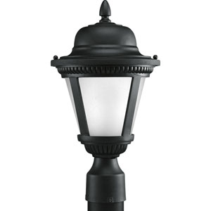 P5445-3130K9 Westport Black 9-Inch One-Light LED Outdoor Post Lantern
