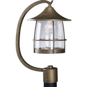 P5463-86:  Prairie Burnished Chestnut One-Light Outdoor Post Mounted Lantern