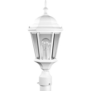 P5482-30:  Welbourne Textured White One-Light Outdoor Post Mounted Lantern