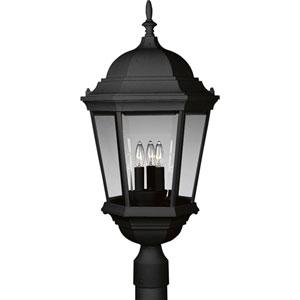 P5483-31:  Welbourne Textured Black Three-Light Outdoor Post Mounted Lantern