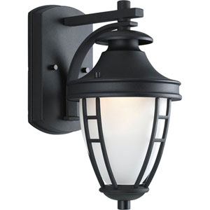 Fairview Black 12-Inch One-Light Outdoor Wall Lantern