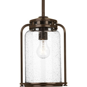 P5561-20 Botta Antique Bronze 8-Inch One-Light Outdoor Pendant