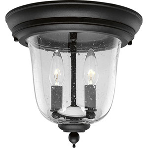 P5562-31:  Ashmore Textured Black Two-Light Outdoor Flush Mount