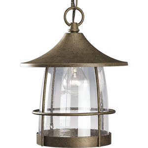 P5563-86:  Prairie Burnished Chestnut One-Light Outdoor Pendant