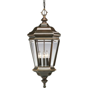 P5574-108:  Crawford Oil Rubbed Bronze Four-Light Outdoor Pendant