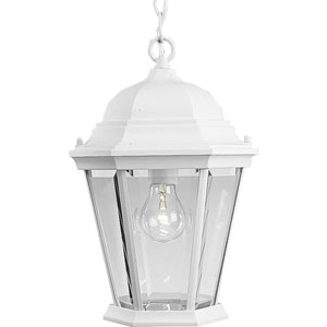 P5582-30:  Welbourne Textured White One-Light Outdoor Pendant