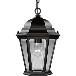 P5582-31:  Welbourne Textured Black One-Light Outdoor Pendant
