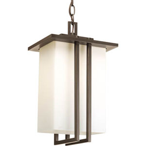 Dibs Outdoor Antique Bronze One-Light Outdoor Pendant with Opal Etched Glass