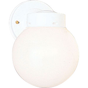Utility Lantern White One-Light Outdoor Wall Mount with White Glass