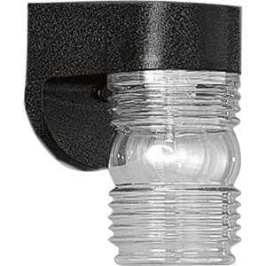Polycarbonate Outdoor Black One-Light Outdoor Wall Mount