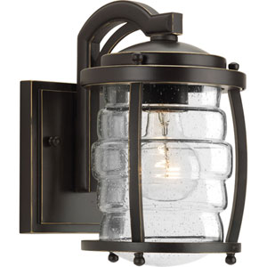P5614-108 Signal Bay Oil Rubbed Bronze 6-Inch One-Light Outdoor Wall Sconce