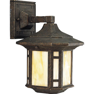 P5628-46:  Arts and Crafts Weathered Bronze One-Light Outdoor Wall Lantern