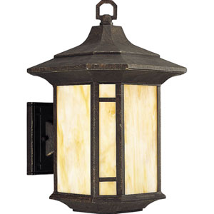 P5629-46:  Arts and Crafts Weathered Bronze One-Light Outdoor Wall Lantern