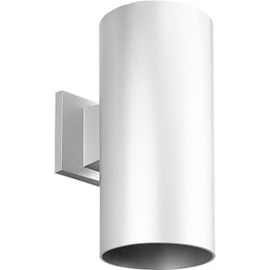P5641-30/30K White 6-Inch One-Light LED Outdoor Wall Sconce