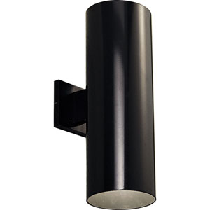 P5642-31/30K Black 6-Inch Two-Light LED Outdoor Wall Sconce