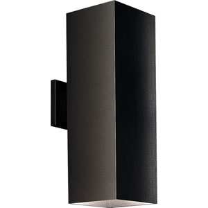 P5644-31:  Black Two-Light Outdoor Wall Lantern