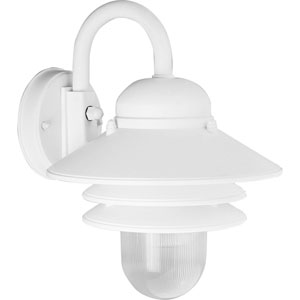 P5645-30:  Newport White One-Light Outdoor Wall Lantern