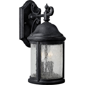 P5649-31:  Ashmore Textured Black Two-Light Outdoor Wall Lantern