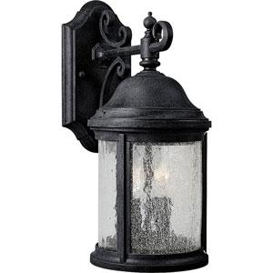 P5649-31:  Ashmore Textured Black Two-Light Outdoor Wall Lantern