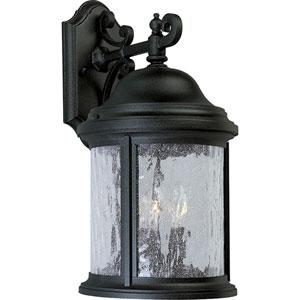 P5650-31:  Ashmore Textured Black Three-Light Outdoor Wall Lantern
