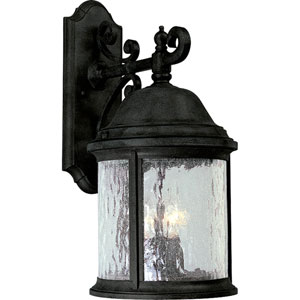 P5651-31:  Ashmore Textured Black Three-Light Outdoor Wall Lantern