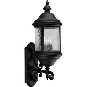 P5652-31:  Ashmore Textured Black Three-Light Outdoor Wall Lantern
