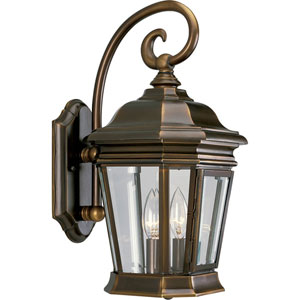 P5671-108:  Crawford Oil Rubbed Bronze Two-Light Outdoor Wall Lantern