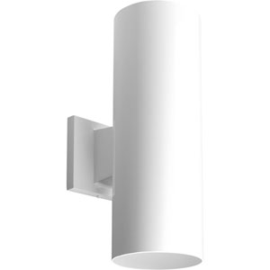 P5675-30/30K White 5-Inch Two-Light LED Outdoor Wall Sconce