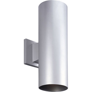 P5675-82/30K Metallic Gray 5-Inch Two-Light LED Outdoor Wall Sconce