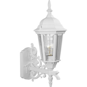P5681-30:  Welbourne Textured White One-Light Outdoor Wall Lantern
