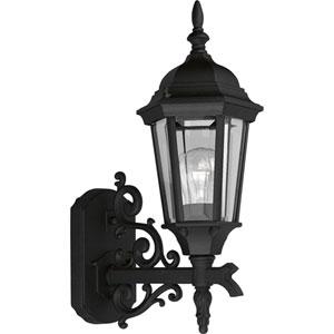P5681-31:  Welbourne Textured Black One-Light Outdoor Wall Lantern