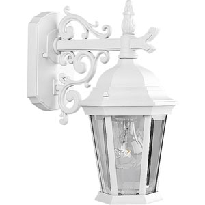 P5682-30:  Welbourne Textured White One-Light Outdoor Wall Lantern